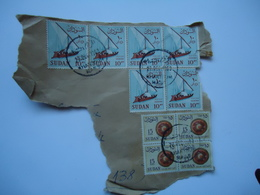 SUDAN   STAMPS  BOATS ON PAPERS   WITH POSTMARK - Soudan (1954-...)