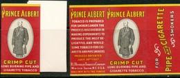 Zwei Päckchen Zigarettenpapier Werbung  Prince Albert Mit Inhalt. - Unclassified