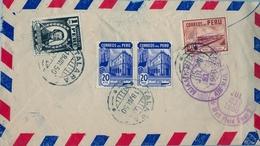 1950 , PERÚ , SOBRE CERTIFICADO , TALARA - LONDRES , TRÁNSITOS DE MIAMI , INT. PETROLEUM COMPANY - Perú
