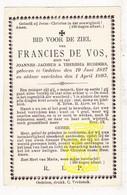 DP Francies De Vos Devos / Hudders ° Oedelem Beernem 1827 † 1893 - Images Religieuses