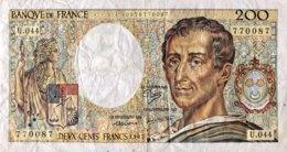 France 200 Francs, P-155b (1987) - Fine - 1962-1997 ''Francs''