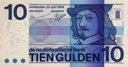 Netherlands 10 Gulden, P-91b (25.4.1968) - UNC - [2] 1815-… : Royaume Des Pays-Bas
