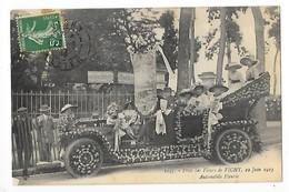 VICHY  (cpa 03)  Fêtes Des Fleurs Du 22 Juin 1913 - Automobile Fleurie  -  L 1 - Vichy