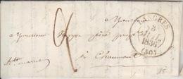 Lettre De Langres (dateur T 13) Du 3 Juil 1836 Pour Chaumont, Taxe 2 Décimes En Port Du - Marcophilie (Lettres)