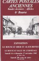 2 Cartes Postales Du Cercle Cartophile Bordelais LE BOUSCAT Hier Et Aujourd'hui - Bourses & Salons De Collections