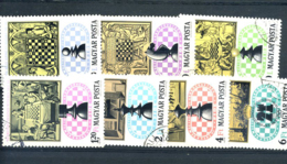 STAMPS - HUNGARY - 1974 CHESS SET - Hungary