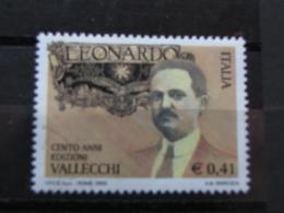 *ITALIA* USATI 2003 - RIVISTA LEONARDO EDITORE VALLECCHI - SASSONE 2709 - LUSSO/FIOR DI STAMPA - 6. 1946-.. Repubblica