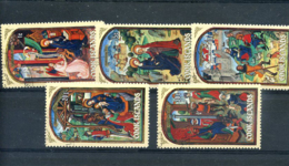 STAMPS - COOK ISLANDS - 1973 CHRISTMAS SET ONCE MOUTED MINT - Cook