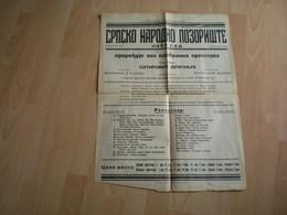 Old Poster Plakat Theater Novi Sad Ujvidek 1936 - Affiches