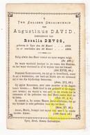 DP Augustinus David ° Ieper 1823 † 1898 X Rosalia Devos - Images Religieuses