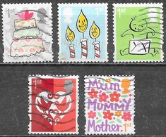GB - Message - Adhésifs - Oblitérés - Lot 1115 - 1952-.... (Elizabeth II)