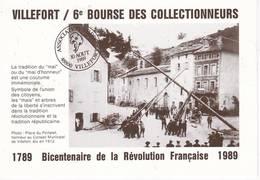 4 Cartes Postales De LOZERE VILLEFORT Bourse Des Collectionneurs - Collector Fairs & Bourses
