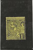 MONACO -TIMBRE N° 20 NEUF CHARNIERE - ANNEE 1891-94 - COTE / 24 € - Monaco