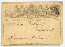 Carte Lettre , Kaartbrief Naar Turnhout 1898 - Belgique