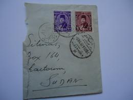 EGYPT  COVER HALF POSTMARK ALEXANDRIA 1949 - Egypt