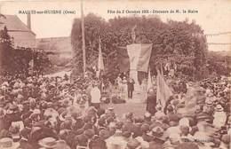 MAUVES SUR HUISNE - Fête Du 2 Octobre 1921 - Discours De M. Le Maire - France