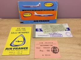 Lot De 2 Billets Air France De 1960 - Tickets