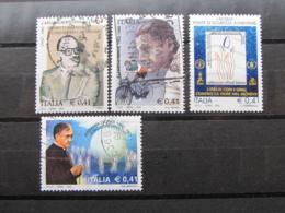 *ITALIA* LOTTO 4 USATI 2002 - ACQUA DALLA CHIESA BINDA ESCRIVA - 6. 1946-.. Repubblica