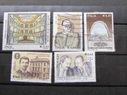 *ITALIA* LOTTO 5 USATI 2002 - CONCORDIA DALLA CHIESA STAZZEMA BOCCONI FALCONE - 6. 1946-.. Repubblica