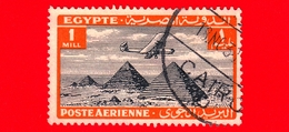 EGITTO - Usato - 1933 - Aereo Che Vola Sopra Le Piramidi Di Giza - 1  P. Aerea - Luchtpost