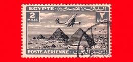 EGITTO - Usato - 1933 - Aereo Che Vola Sopra Le Piramidi Di Giza - 2 P. Aerea - Posta Aerea