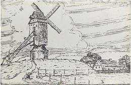 AALBEKE - Foto Duitse Tekening MOLEN Gemaakt 1917 Door Musk. BUSCHMANN - 17 X 11 Cm. (verso Blanco) - Kortrijk