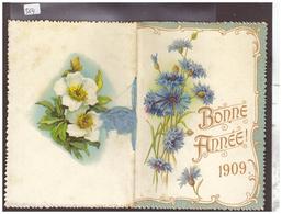 LIVRET BONNE ANNEE 1909 - CALENDRIER ILLUSTRE -  LES 12 MOIS AVEC DES POESIES - Nouvel An