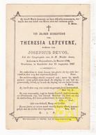 DP Theresia LeFevere ° Roeselare 1792 † Rumbeke 1867 X Josephus Devos - Images Religieuses