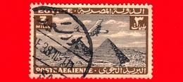 EGITTO - Usato - 1933 - Aereo Che Vola Sopra Le Piramidi Di Giza - 3 P. Aerea - Posta Aerea