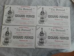 BUVARDS EDOUARD PERNOD PONTARLIER Lot De 4 Cartes - Alimentaire
