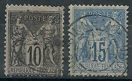 Année 1877-80 - Sage Type II - Y & T N° 89 Et 90 Ob - Voir Scan - 1876-1898 Sage (Tipo II)
