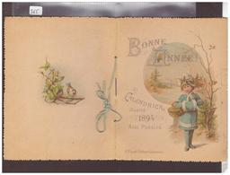 LIVRET BONNE ANNEE 1894 - CALENDRIER ILLUSTRE - LES 12 MOIS AVEC DES POESIES - Nouvel An