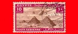 EGITTO - Usato - 1933 - Aereo Che Vola Sopra Le Piramidi Di Giza - 10 P. Aerea - Posta Aerea