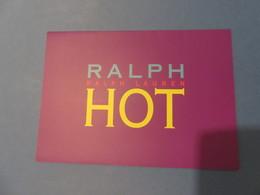 1 Dépliant Ralph Lauren, Anglais - Cartes Parfumées