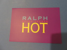 1 Dépliant Ralph Lauren, Anglais - Perfume Cards