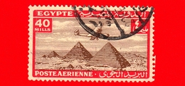 EGITTO - Usato - 1933 - Aereo Che Vola Sopra Le Piramidi Di Giza - 40 P. Aerea - Poste Aérienne