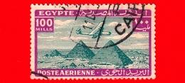 EGITTO - Usato - 1941 - Aereo Che Vola Sopra Le Piramidi Di Giza - 100 P. Aerea - Poste Aérienne