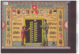 CHOCOLATS NPCK - CARTE AVEC TIRETTE POUR MESURES, CALCULS ET HISTOIRE SUISSE - Autres