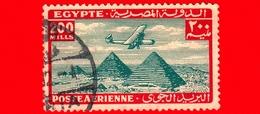 EGITTO - Usato - 1941 - Aereo Che Vola Sopra Le Piramidi Di Giza - 200 P. Aerea - Posta Aerea