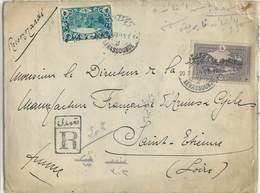 Lettre Recommandée De TURQUIE-  Voyagée De Kerassunde à St Etienne En 1923 - 1921-... Republic