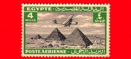 Nuovo - MNH - EGITTO - 1933 - Aereo Che Vola Sopra Le Piramidi Di Giza - 4 P. Aerea - Luchtpost