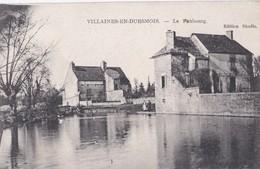 Carte Vers 1920 VILLAINES EN DUESMOIS / LE FAUBOURG - Otros Municipios
