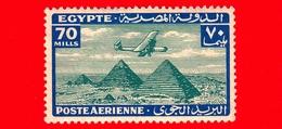Nuovo - MNH - EGITTO - 1933 - Aereo Che Vola Sopra Le Piramidi Di Giza - 70 P. Aerea - Luchtpost