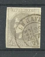 N° 41B OBLITERE - 1870 Bordeaux Printing