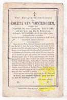 DP Coleta Van Wonterghem / Devos ° Ruiselede 1815 † 1876 - Images Religieuses