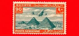 Nuovo - MNH - EGITTO - 1933 - Aereo Che Vola Sopra Le Piramidi Di Giza - 90 P. Aerea - Luchtpost