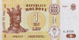 Moldavia 1 Leu, P-8g (2006) - UNC - Moldavie