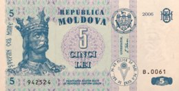 Moldavia 5 Lei, P-9e (2006) - UNC - Moldawien (Moldau)
