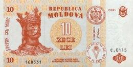 Moldavia 10 Lei, P-10e (2006) - UNC - Moldavie