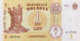 Moldavia 1 Lei, P-21 (2015) - UNC - Moldawien (Moldau)